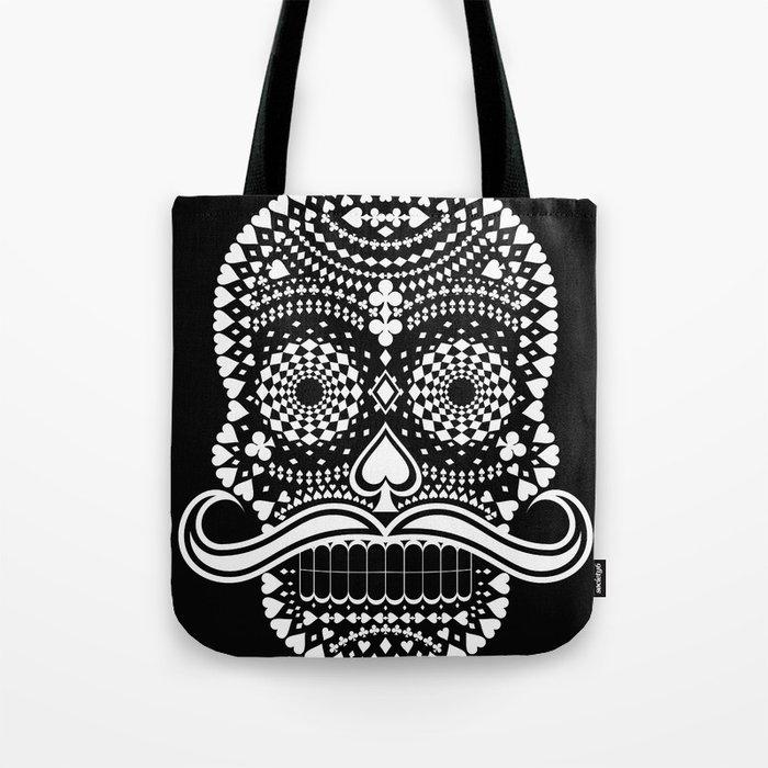 Black Skull  White Suits Tote Bag