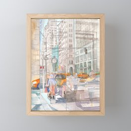 Reflection in the New York City windows II Framed Mini Art Print