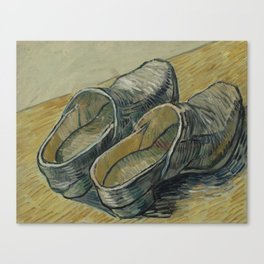 A Pair of Leather Clogs Canvas Print