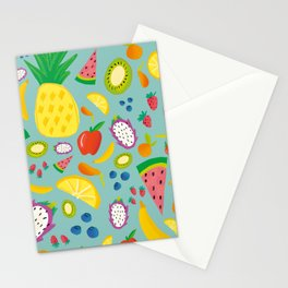 Fruity Salad (Blue) Stationery Cards