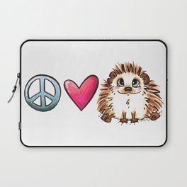Peace, Love and Hedgehogs Laptop Sleeve