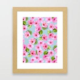 Ibiscus Dance Framed Art Print