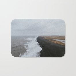 Black Sand Beach Bath Mat