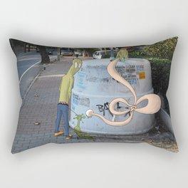 piss off Rectangular Pillow