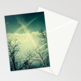 painting through the sky . Stationery Cards