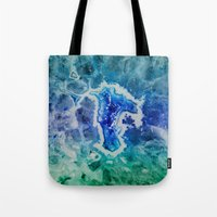 mineral Tote Bags featuring MINERAL MAZE by Catspaws