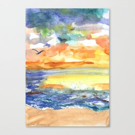 Playful Sea Canvas Print