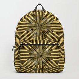 Golden Rattan Wicker Squares Backpack