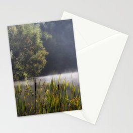 Autumn Mist at Mallards Pike Stationery Cards