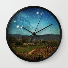 Starlit Vineyard II Wall Clock