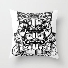 Samurai Totem Throw Pillow