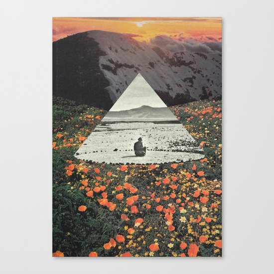 Harmony with flowers Canvas Print