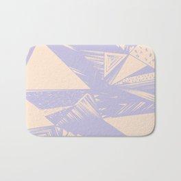 Modern lilac ivory violet geometrical shapes patterns Bath Mat