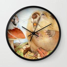 Mouse & Beaver Wall Clock