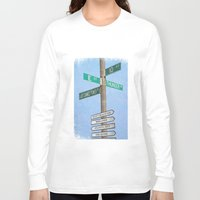 springsteen Long Sleeve T-shirts featuring Springstreets by Nicko-Suave Art
