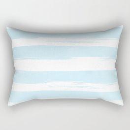 Pastel Blue Stripes Rectangular Pillow