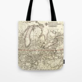 Map of the Continental Railroad Route (1873) Tote Bag