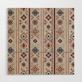Caucasian Rugs(Stripe) - White Wood Wall Art
