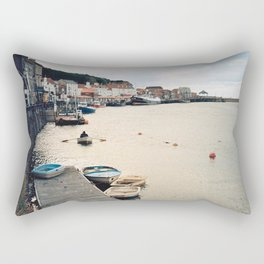 Whitby Row Boats Rectangular Pillow