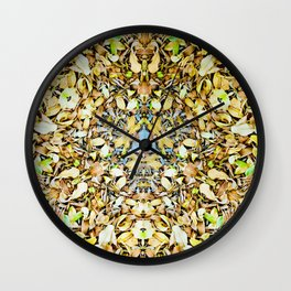 A Circle of Leaves Wall Clock