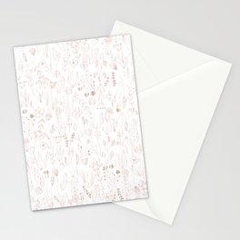 Rose Gold Floral Pattern Stationery Cards