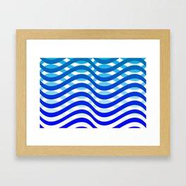 Waving Blue Pattern Framed Art Print