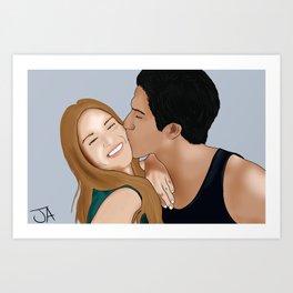 A Little Kiss Art Print