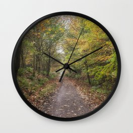 Autumn Cycle Path Wall Clock