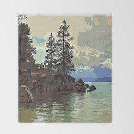 Lake Tahoe Throw Blanket