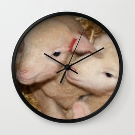 Lamb Twins  Wall Clock