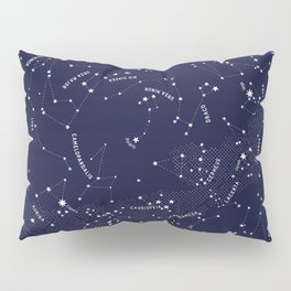 Constellation Map - Indigo Pillow Sham