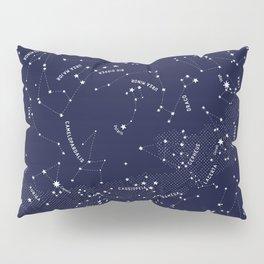 Constellation Map - Indigo Pillow Sham