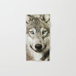 Smokey Sketched Wolf Hand & Bath Towel