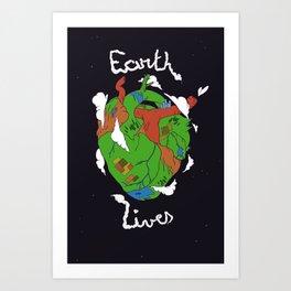 Earth Heart Art Print