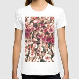 Cranberry Cream Flower Field T-shirt