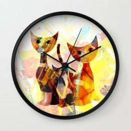Familie Katze Wall Clock