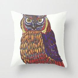Spirt animal owl Throw Pillow