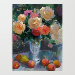 Roses & Fruits Poster
