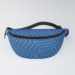 Yale Blue - blue - Modern Vector Seamless Pattern Fanny Pack
