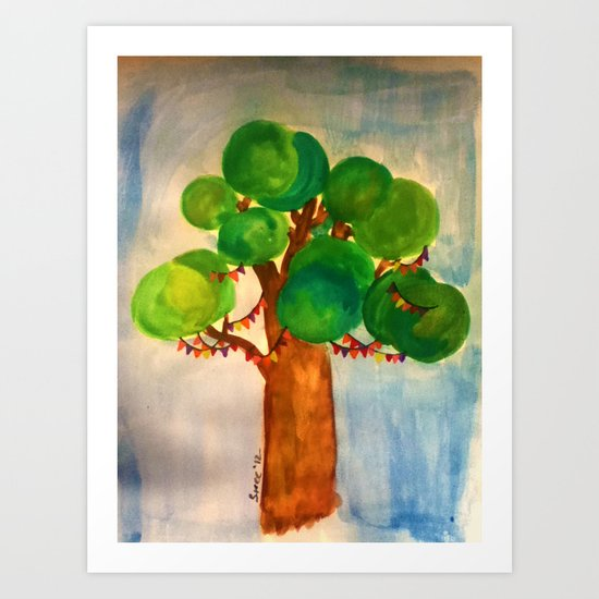 Watercolour: Celebrate Art Print