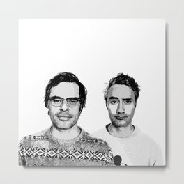 Jemaine and Taika 3 Metal Print