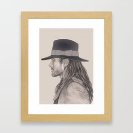 JARED LETO AND HIS HAT Framed Art Print
