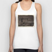 sewing Tank Tops featuring Pfaff Sewing Machine by Rainer Steinke