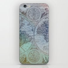 Map of the Colorful World iPhone Skin