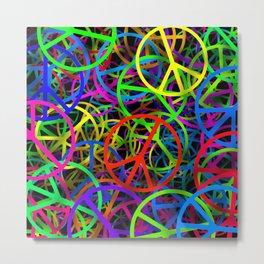 Groovy Peace Rainbow Metal Print