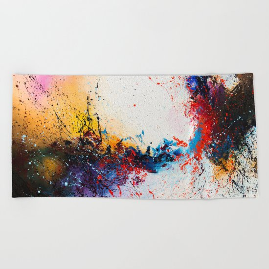 Whirlpool galaxy Beach Towel