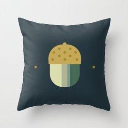 october midnight acorn Throw Pillow