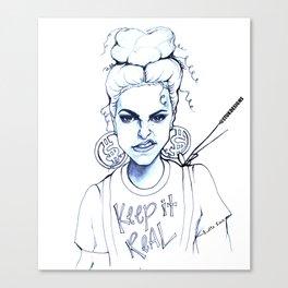 #STUKGIRL KYE (Keep it Real) Canvas Print