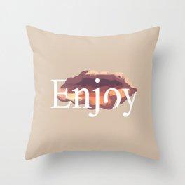 Enjoy #typography #minimal Throw Pillow