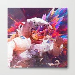 Astronaut (Abstract 30) Metal Print